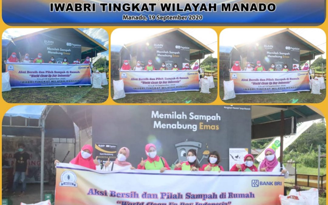 IWABRI Tingkat Wilayah Manado dan World Clean Up Day 2020