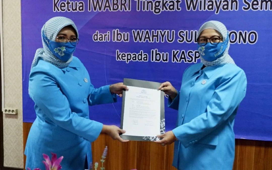 Serah Terima Jabatan Ketua IWABRI Tingkat Wilayah Semarang