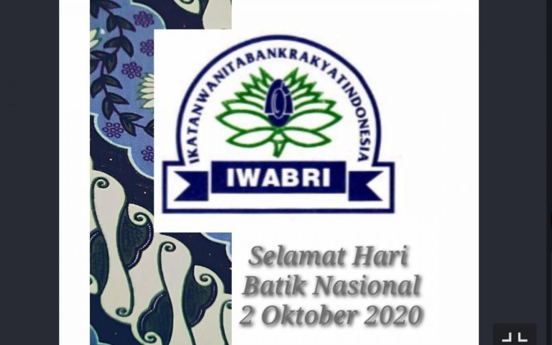 HARI BATIK NASIONAL, 2 OKTOBER 2020