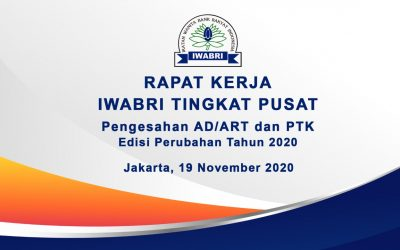 RAPAT KERJA IWABRI TINGKAT PUSAT, 19 NOVEMBER 2020