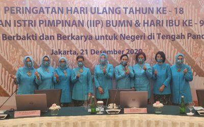 IWABRI DALAM PERINGATAN HARI ULANG TAHUN KE-18 IIP BUMN & HARI IBU, 21 DESEMBER 2020