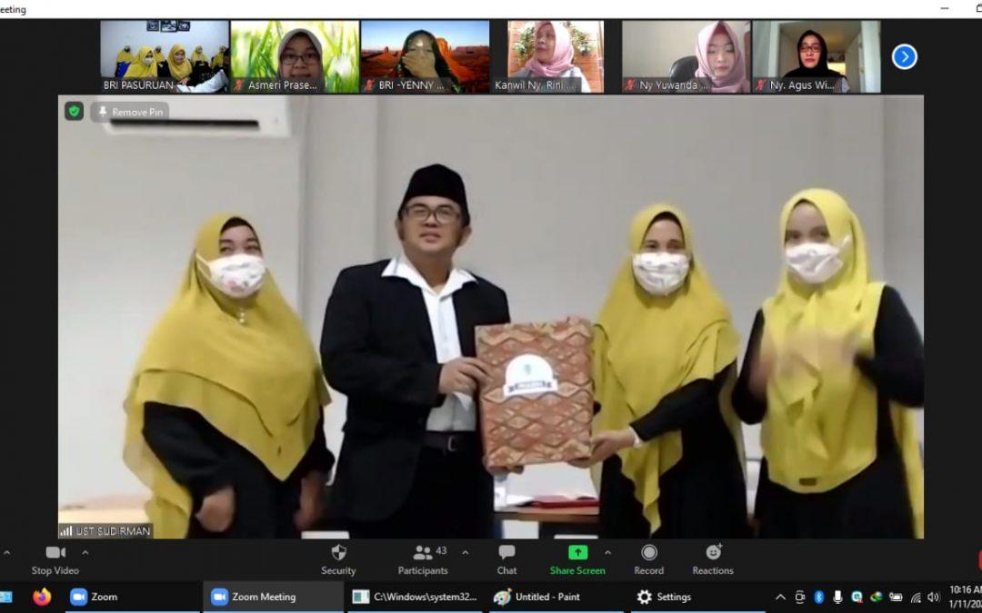 Pengajian Rutin Secara Virtual Dengan Tema Bersabar Dalam Ujian Rumah Tangga