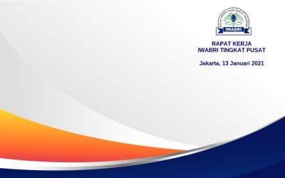 RAPAT KERJA IWABRI TINGKAT PUSAT, 13 JANUARI 2021