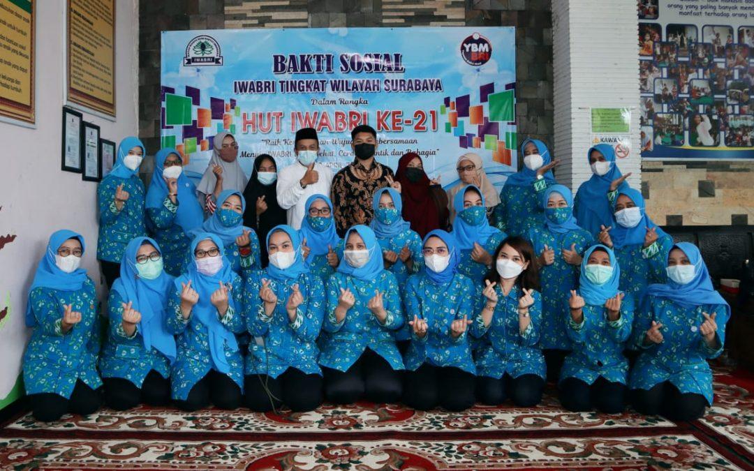 """Baksos IWABRI Surabaya Dalam Rangka HUT IWABRI ke 21 """"Raih Kemenangan Menuju IWABRI yang Sehat, Cerdas, Cantik dan Bahagia"""""""