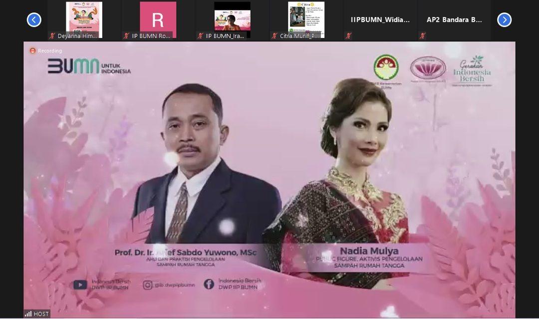 "Peringatan Hari Kartini dan Webinar Gerakan Indonesia Bersih DWP&IIP BUMN ""Perempuan Ujung Tombak Pelestarian Lingkungan"""
