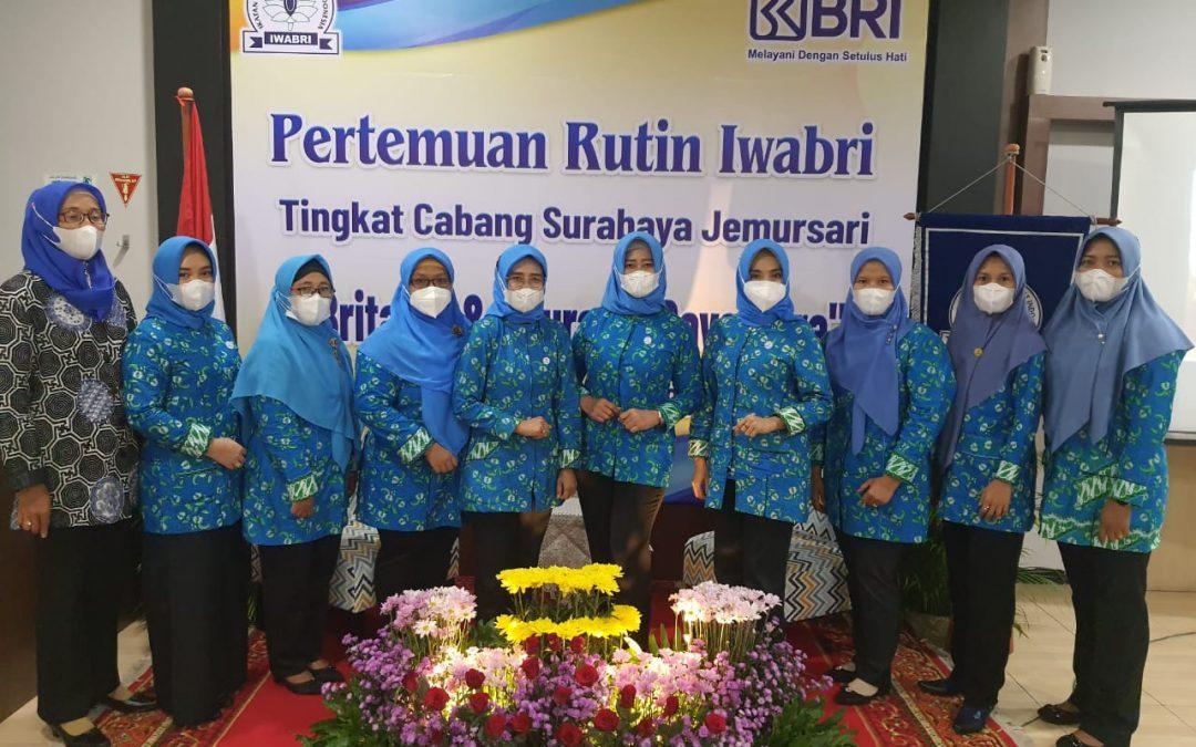 Ketua dan Wakil Ketua Bidang IWABRI Surabaya Menghadiri Pertemuan Rutin IWABRI Surabaya Jemursari