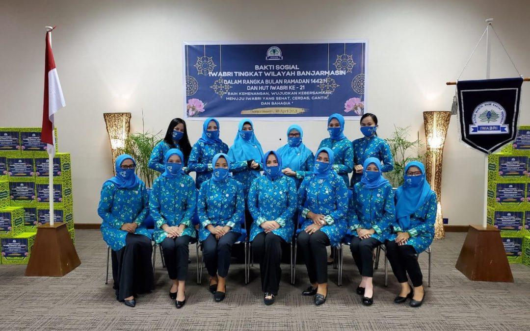 Bakti Sosial IWABRI Tingkat Wilayah Banjarmasin Dalam Rangka Bulan Suci Ramadhan 1442 H dan HUT IWABRI yang ke-21
