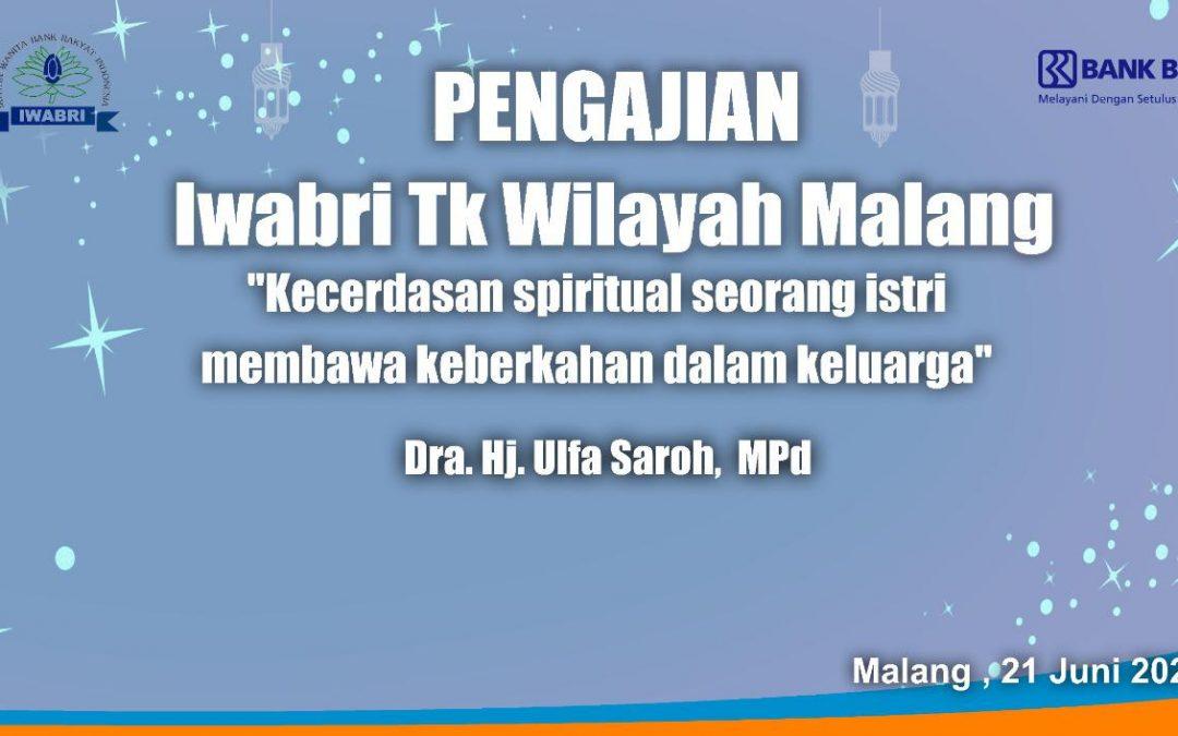 Pengajian Rutin IWABRI Tingkat Wilayah Malang Bulan Juni 2021