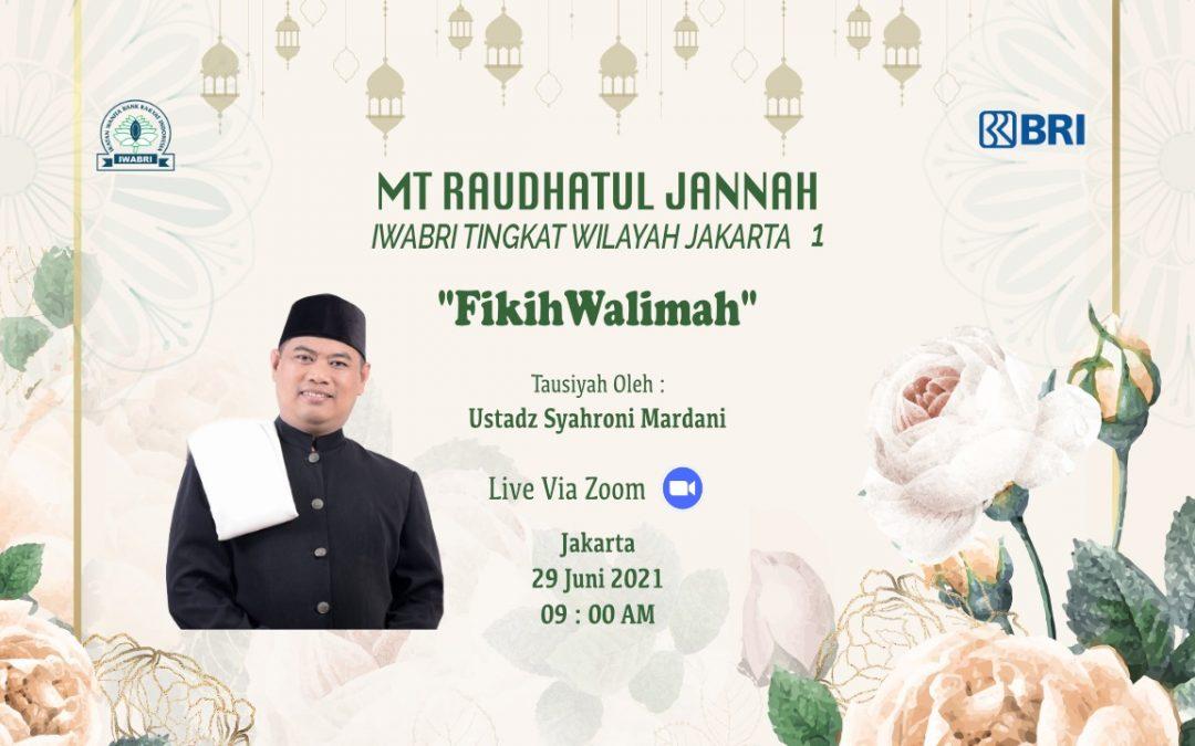 Pengajian Rutin MT. Raudhatul Jannah IWABRI Tingkat Wilayah Jakarta 1, Secara Virtual Menggunakan Media Zoom Meeting.