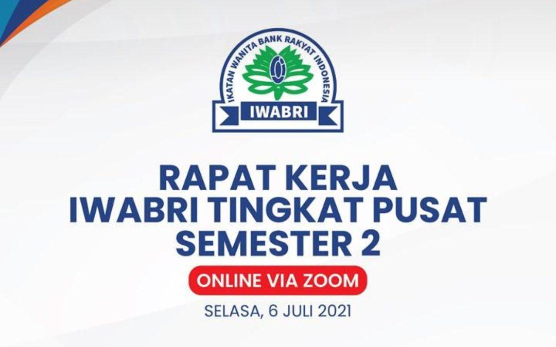 RAPAT KERJA IWABRI TINGKAT PUSAT SEMESTER 2, 6 JULI 2021