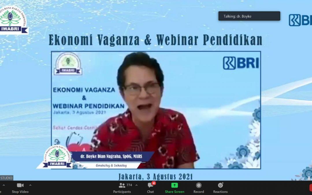 Ekonomi Vaganza dan Webinar Pendidikan bersama IWABRI Tk Pusat