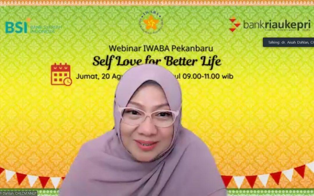 Webinar Aisah Dahlan dari IWABA Tingkat Wilayah Pekanbaru
