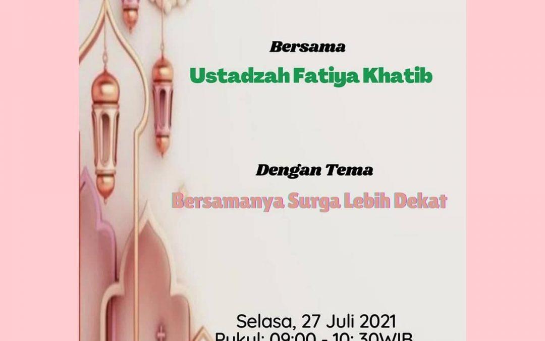 IWABRI Tingkat Wilayah Padang menghadiri Taklim Yang Diadakan oleh IWABRI Pusat Dengan Tema 'BERSAMANYA SURGA LEBIH DEKAT'