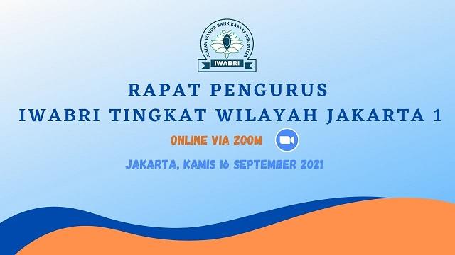 Rapat Pengurus IWABRI Tingkat Wilayah Jakarta 1 secara online dengan media Zoom Meeting yang di hadiri oleh Ketua, Wakil Ketua Bidang dan Pengurus IWABRI Tingkat Wilayah Jakarta 1.