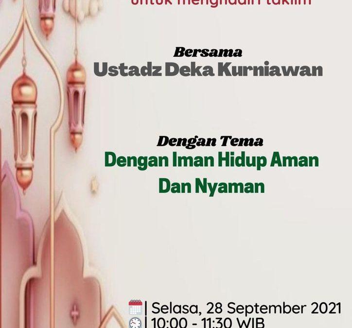 IWABRI Tingkat Wilayah Jakarta 1 turut hadir secara online melalui Zoom Meeting dalam acara Taklim Online yang di selanggarakan oleh Bidang Pendidikan IWABRI Pusat dan MT. Assakinah.